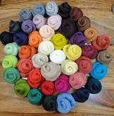 Filzwolle - 44 Knäule zum Naßfilzen und Trockenfilzen, ca. 470gr. viele Farben im Set - 1