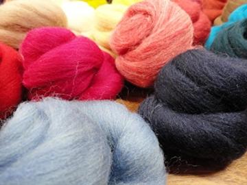 Filzwolle - 44 Knäule zum Naßfilzen und Trockenfilzen, ca. 470gr. viele Farben im Set - 2