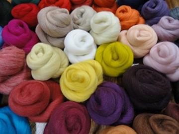 Filzwolle - 44 Knäule zum Naßfilzen und Trockenfilzen, ca. 470gr. viele Farben im Set - 5