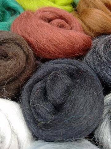 Filzwolle - 45 Stück, ideal zum Trockenfilzen und Naßfilzen, ca. 500gr. leuchtende Farben - 2